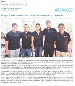 El Mexicano. Alimentando Sonrisas Fundacion. 2014