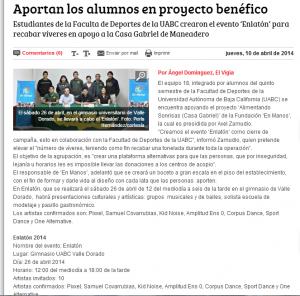 El Vigia. Rueda de Prensa presentacion Enlaton. 2014