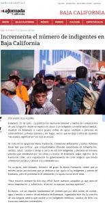 La Jornada BC. Mencion Axel Zamudio. 2015