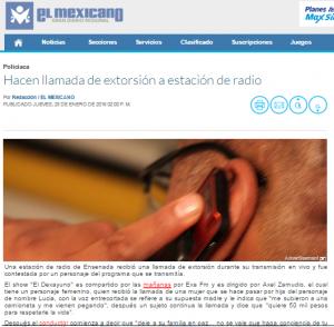Llamada de extorsión viral - El Mexicano