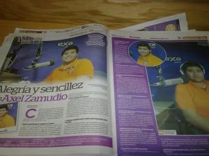 Periodico Fronter. Reportaje Exa. 2013