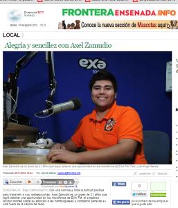 Periodico Frontera. Entrevista Locutor. 2013