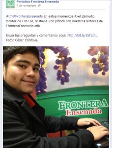 Periodico Frontera. Invitacion Chat. 2013